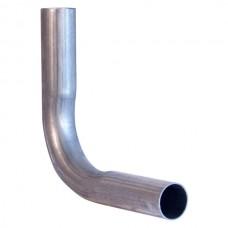 Изгиб трубы глушителя из алюм. cтали D=45, угол 90